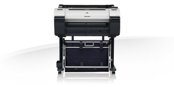 "Plotter Canon imagePROGRAF iPF670, Net, 24""/A1/609.6mm, CAD/GIS, 2400x1200 dpi_4pl, 256MB, print head PF-04, 6 tank: MBKx2 / BK/C/M/Y, PFI-107_130ml/starter 90ml, Maint Cartr MC-10, 997(W)x698(D)x507(H)mm, W 57kg,One roll, front-loading, front output"