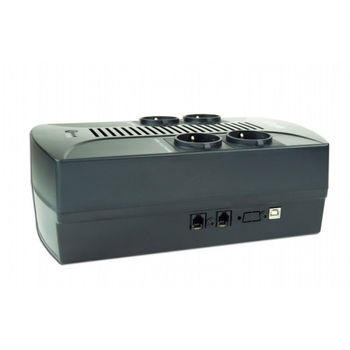 Gembird EnerGenie EG-UPS-002, 850VA / 510W, UPS with AVR, 4x Schuko outlets, LED status indication, USB port