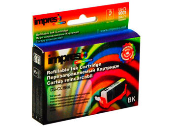 Impreso IMP-CCLI-8BK Black Refillable Canon iP3300/ 3500/ 4200/ 4300/4500/ 5200/ 5300/ 6600/ MP500/510/520/ 530/600/ 610/800/810/ 830/950/ 960/970/ MX700/850, w/chip (13.5ml) (cartus/картридж)