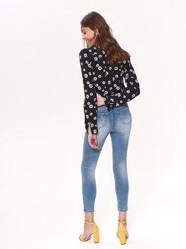Блуза TOP SECRET Черный в цветочек skl2827
