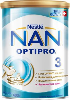 cumpără Nestle Nan 3 formulă de lapte, 12+ luni, 400 g în Chișinău