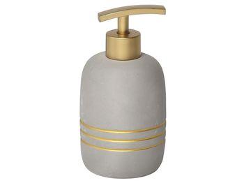 Диспенсер для жидкого мыла Golden Stripes,серый, керамика