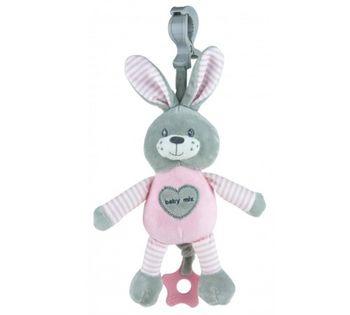 купить Музыкальная игрушка-подвеска для коляски Baby Mix зайка в Кишинёве