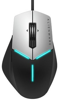 DELL Alienware Advanced Gaming Mouse, AlienFX 16.8M RGB Lighting,  Optical sensor, Omron 10 million clicks, 9 all programmable buttons, 200-5000 DPI resolution, 120g  - AW558