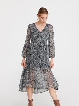 Платье RESERVED Серый с принтом xt206-mlc