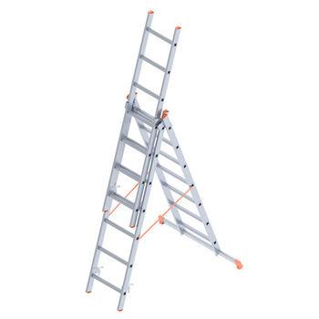 Лестница алюминиевая Sarayli Triple 3x6