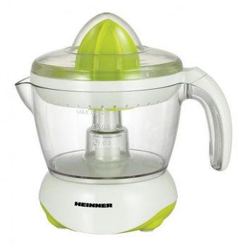 Соковыжималка для цитрусовых Heinner Citrus C250X, 25 Вт, 0,7 л, 1 Скорость, Две рожки, Белый / Зеленый