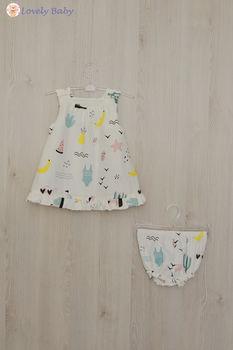 Платье R08 с фламинго