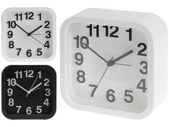 купить Часы-будильник 13X13X5cm, цвет белый/черный в Кишинёве