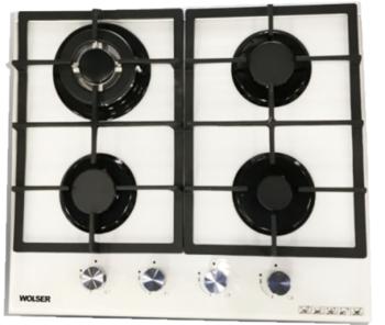 Газовая панель Wolser WL-6400 GBN White