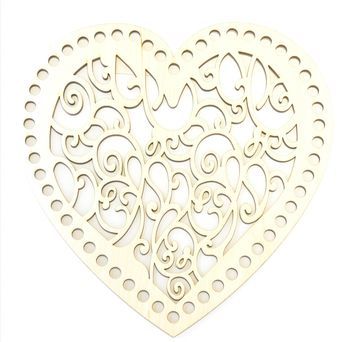 Formă din lemn inimă, 20 cm