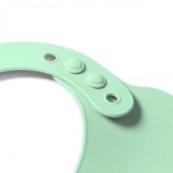 Мягкий силиконовый нагрудник с регулируемой застёжкой Green