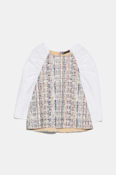 Блуза ZARA Белый/Бежевый 0387/051/250