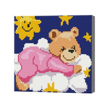 Медвежонок на облачке, 20x20 см, алмазная мозаика