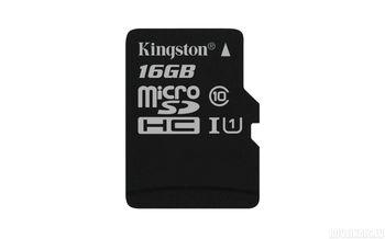 Kingston 16GB microSDHC Class10 UHS-I 300x, Up to: 45MB/s