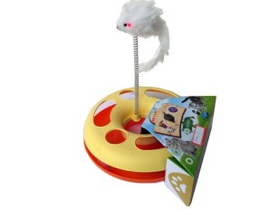 cumpără Интерактивная игрушка для кошек, с мышью на пружине, R1006-17 în Chișinău