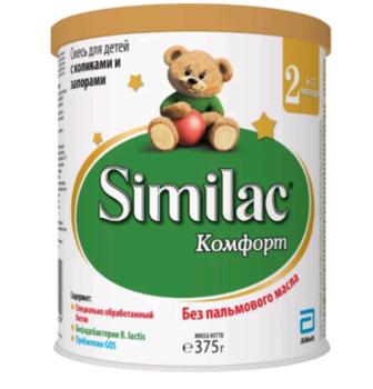 купить Similac Comfort 2 молочная смесь, 0-6мес. 375 г в Кишинёве