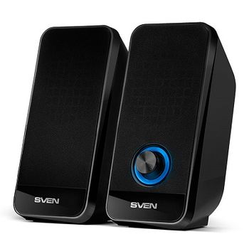 SVEN 320 Black (USB),  2.0 / 2x3W RMS, Volume control, USB power supply, Black