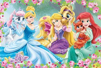 "14223 Trefl Puzzles - ""24 Maxi"" - Resting in garden / Disney Princess"