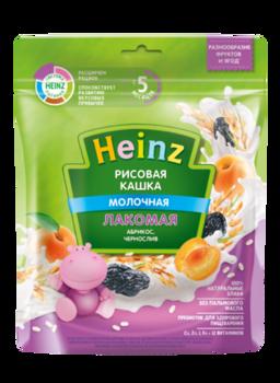 Каша HEINZ Лакомая рисовая абрикос и чернослив 170г (5 месяцев)