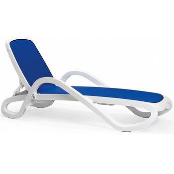 Шезлонг Лежак Nardi ALFA BIANCO blu 40416.00.112 (Шезлонг Лежак для сада террасы бассейна)