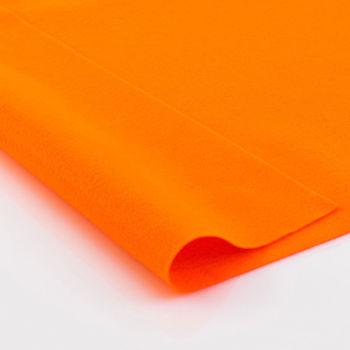 Фетр мягкий Ярко-оранжевый. Размер: А4