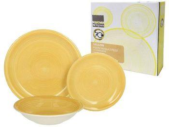 Набор тарелок Gypsy Yellow 3шт (D19, D21, D26.5), керамика
