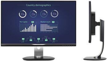 "купить ""23.8"""" Philips """"242B7QPTEB"""", Black (IPS, 2560x1440, 5ms, 300cd, 20M:1, DP,HDMI,DSub, USB,Spk,HAS/Pvt) (23.8"""" AH-IPS W-LED, 2560x1440 WQHD, 0.216mm, 5ms GTG, 300 cd/m², DCR 20 Mln:1 (1000:1), sRGB 16.7M Colors True 8-bit , 178°/178° @C/R>10, 30~83 KHz(H)/ 56~76Hz(V), DisplayPort + miniDP+ HDMI + D-Sub, Stereo Audio-In, Headphone-Out, Built-in speakers, USB 3.0 x4-Hub (1 w/fast charging), DisplayPort-out, Built-in PSU, HAS 150mm, Tilt: -5°/+30°, Swivel +/-175°, Pivot, VESA Mount 100x100, PowerSensor, Flicker-Free, Super Narrow Border, Black)"" в Кишинёве"