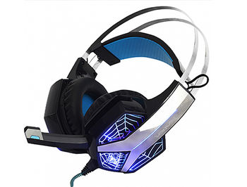 AULA Storm Gaming headset, 20 Hz - 20 kHz, 110+/-3 dB, 32 Ohm, Microphone: -32 dB ± 3 dB, 2m, 2x3.5mm + USB (for illumination) (casti cu microfon/наушники с микрофоном)
