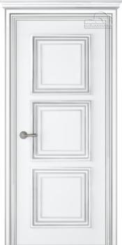купить Дверь ПАЛАЦЦО 3 эмаль белый патина серебро глухая в Кишинёве