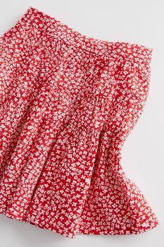 Юбка ZARA Красный с принтом 1377/494/600