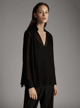 Блуза Massimo Dutti Чёрный 5109/525/800