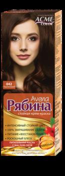 Краска для волос, ACME Рябина Avena, 100 мл., 042 - Каштановый