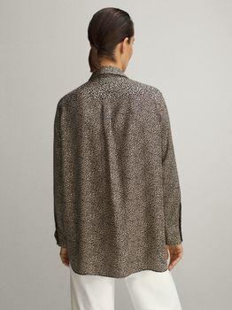 Блуза Massimo Dutti Леопардовый принт 5119/810/712