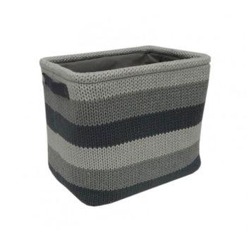 cumpără Coș tricot 360x260x300 mm, gri deschis + gri în Chișinău