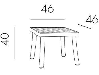 Столик Nardi RODI ANTRACITE 40050.02.000 (Столик для сада лежака террасы балкон)