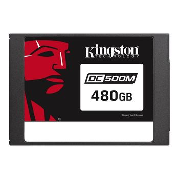 "2.5"" SSD 480GB  Kingston DC500M Data Center Enterprise, SATAIII, Mixed-Use, 24/7, SED, PLP, Sequential Reads:555 MB/s, Sequential Writes:520 MB/s, Steady-state 4k: Read: 98,000 IOPS / Write: 58,000 IOPS, 7mm, Phison PS3112-S12DC, 3D NAND TLC"