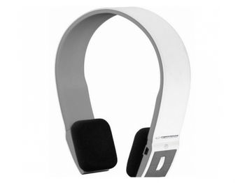"Esperanza EH135WE ""CITY BEAT"" White/Grey, Stereo Bluetooth Headphones, with Microphone, Bluetooth technology up to 10m, call pick up button, volume control, Built-in Li-ion battery for 8 hours lifetime, rechargeable by USB"