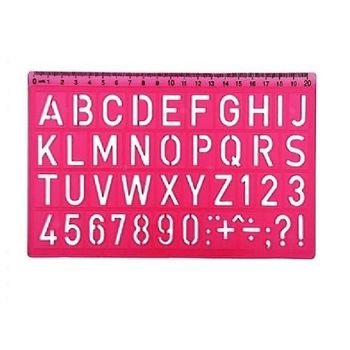 Трафарет латинские буквы и цифры