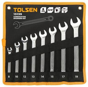 cumpără Trusa chei combinate - 8buc (8-19 mm) TOLSEN în Chișinău