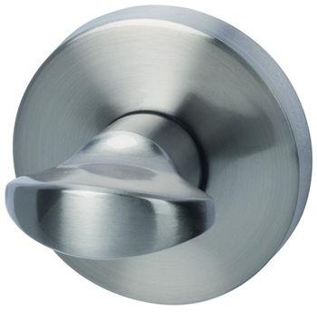 Дверная ручка на розетке Arena хром сатин + накладка WC