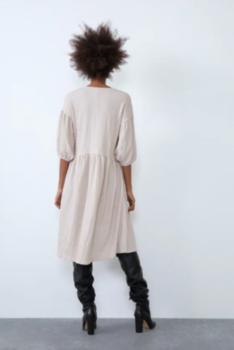 Платье ZARA Бежевый 5039/806/712