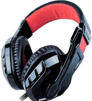 "MARVO ""H8329"", Gaming Headset, Microphone, 40mm driver unit, Volume control, Adjustable headband, 3.5mm jack, Braided cable, Black-Red"
