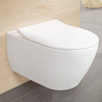 Vas WC suspendat Villeroy&Boch Subway 2.0, DirectFlush, cu capac Slim Soft Close
