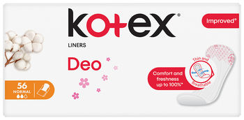 Ежедневные прокладки Kotex Deo Нормал, 56 шт.