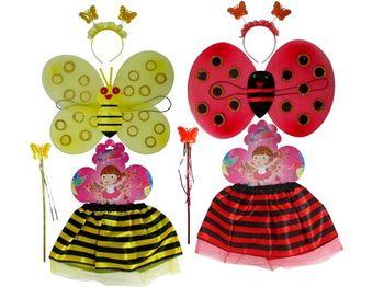 """Set aripi + fusta """"Ladybug"""""""
