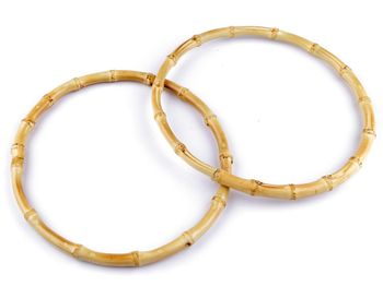 Mâner din bambus pentru geantă, Ø20 cm / bambus deschis