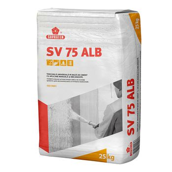 Supraten Штукатурка цементная SV 75 белая 25кг