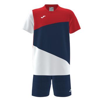 Футболка + шорты JOMA - T-SHIRT E CALÇÃO ARNIELLES NAVY WHITE