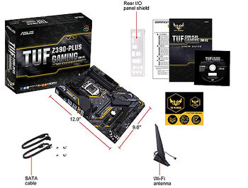 Материнская плата ASUS TUF Z390-PLUS GAMING Intel Z390, LGA1151, Dual DDR4 4266MHz, 2xPCI-E 3.0/2.0 x16, HDMI/Display Port, AMD CrossFireX, SATA RAID 6Gb/s, 2xM.2 x4 Socket, Intel Optane Memory Ready, USB3.1, 8-Ch HD Audio, GigabitLAN, LED lighting,